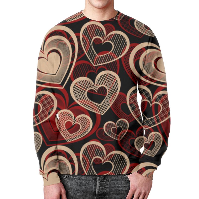 Printio Сердца свитшот мужской с полной запечаткой printio сердца