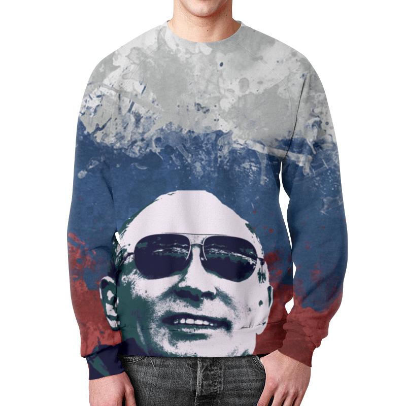 Свитшот мужской с полной запечаткой Printio Путин свитшот print bar путин deep techno