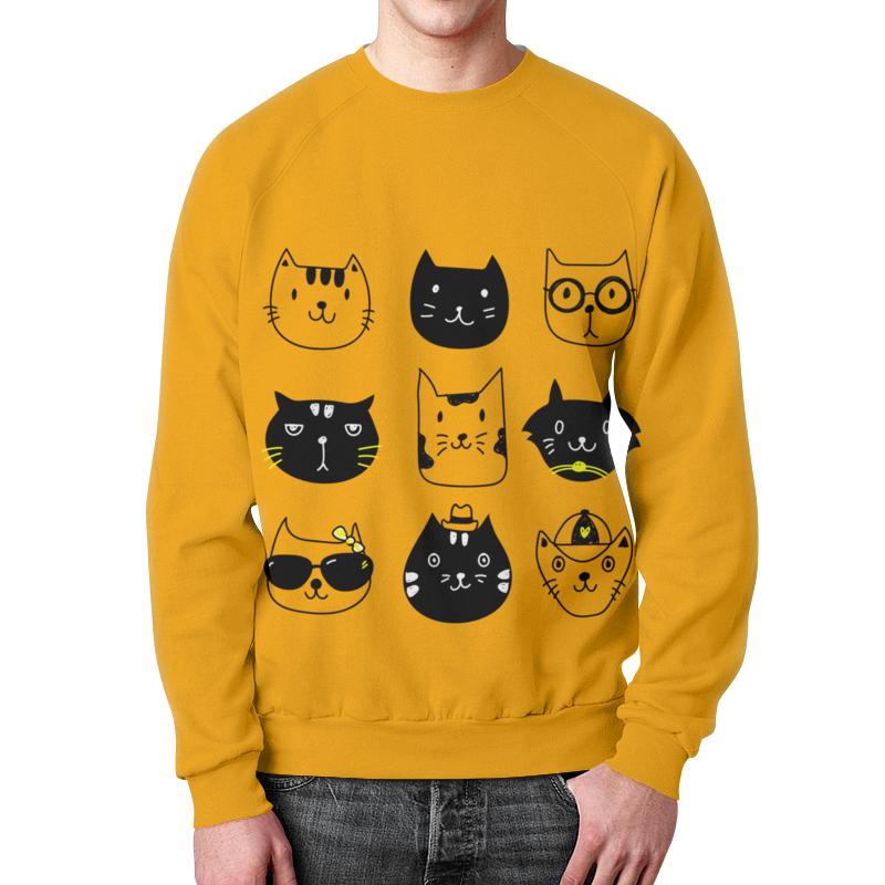 Свитшот унисекс с полной запечаткой Printio Милые котики детский свитшот унисекс printio котики