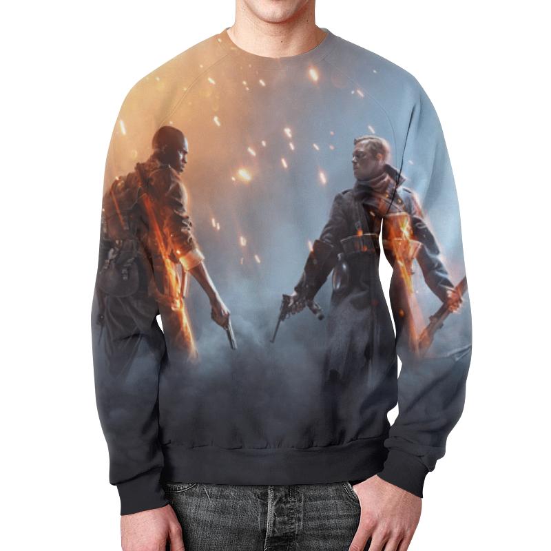 Свитшот мужской с полной запечаткой Printio Battlefield 1 футболка с полной запечаткой мужская printio battlefield 1