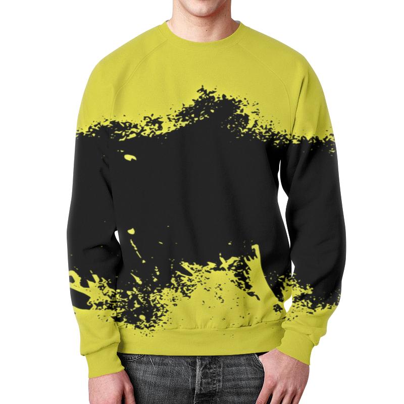 Свитшот унисекс с полной запечаткой Printio Черно-желтые краски цена