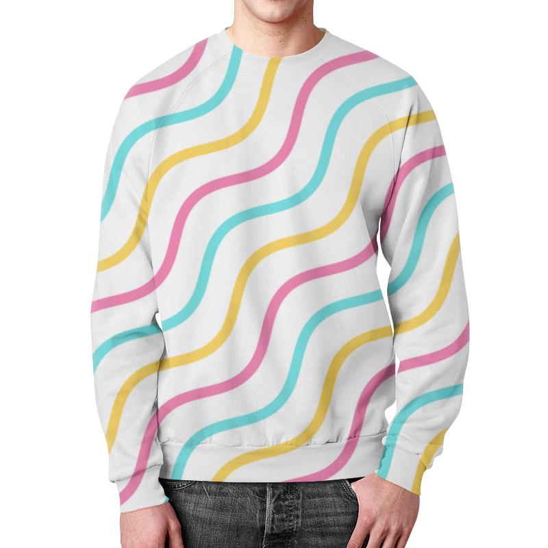 Свитшот мужской с полной запечаткой Printio Волны свитшот мужской с полной запечаткой printio абстрактные волны
