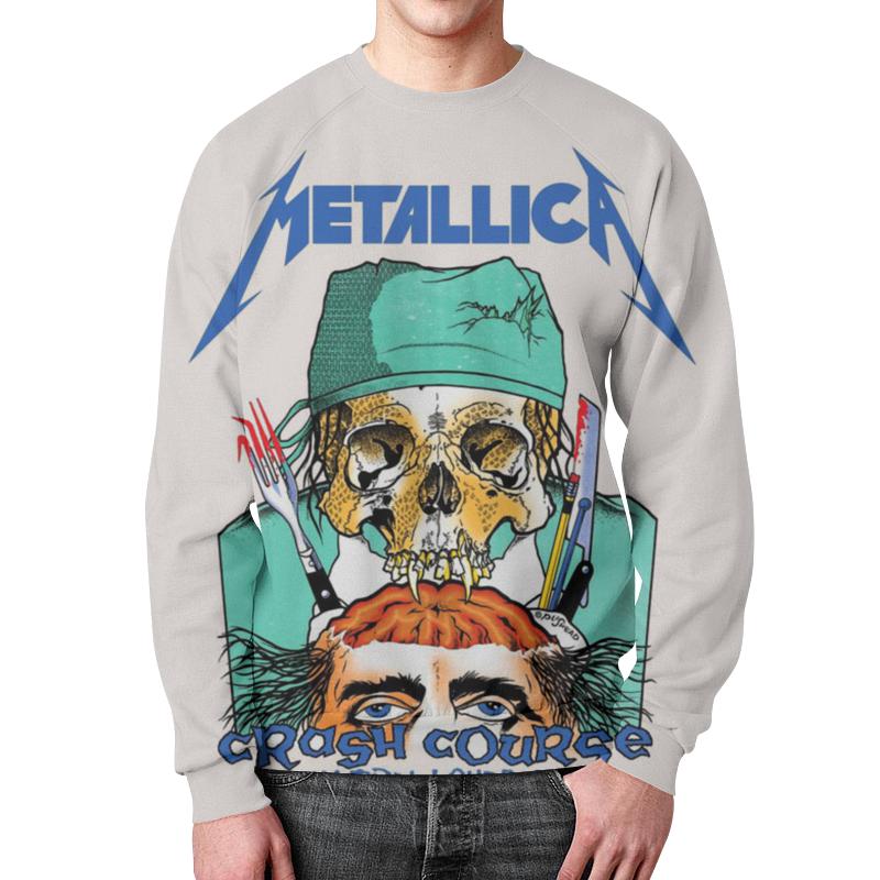 Фото - Свитшот мужской с полной запечаткой Printio Metallica свитшот унисекс с полной запечаткой printio алфавит