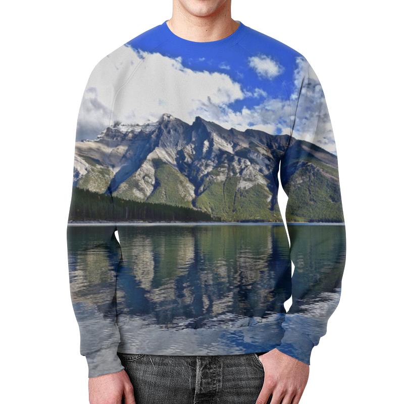 Свитшот мужской с полной запечаткой Printio Горы у берега толстовка с полной запечаткой printio горы у берега