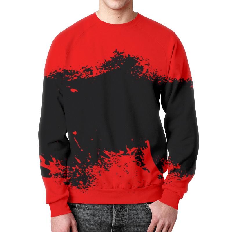 Свитшот мужской с полной запечаткой Printio Черно-красные краски свитшот мужской с полной запечаткой printio черно белые краски