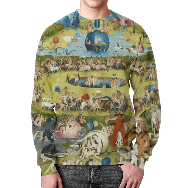 Свитшот унисекс с полной запечаткой Printio Сад земных наслаждений юбка в складку printio сад земных наслаждений