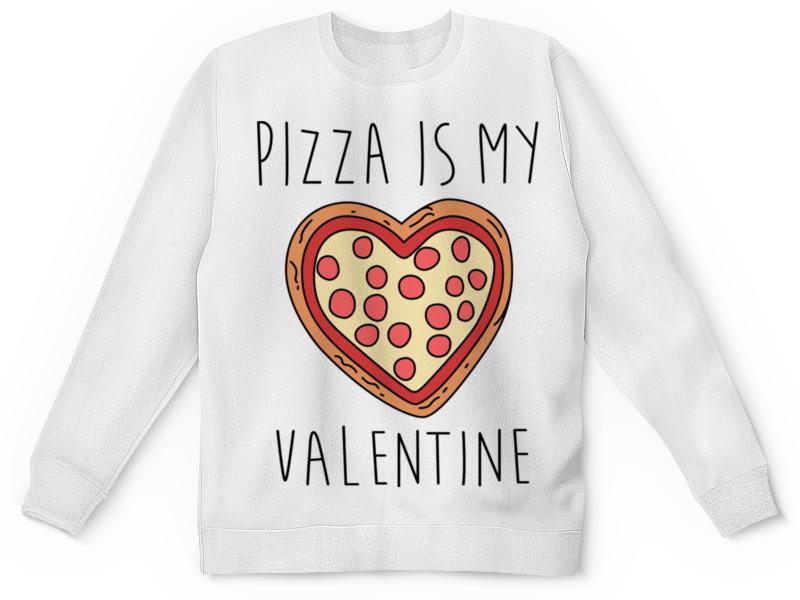 Свитшот унисекс с полной запечаткой Printio Пицца - мой валентин