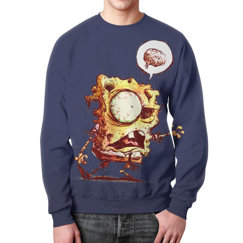 Свитшот мужской с полной запечаткой Printio Спанч боб зомби губка боб квадратные штаны день мороженого книжка мозаика