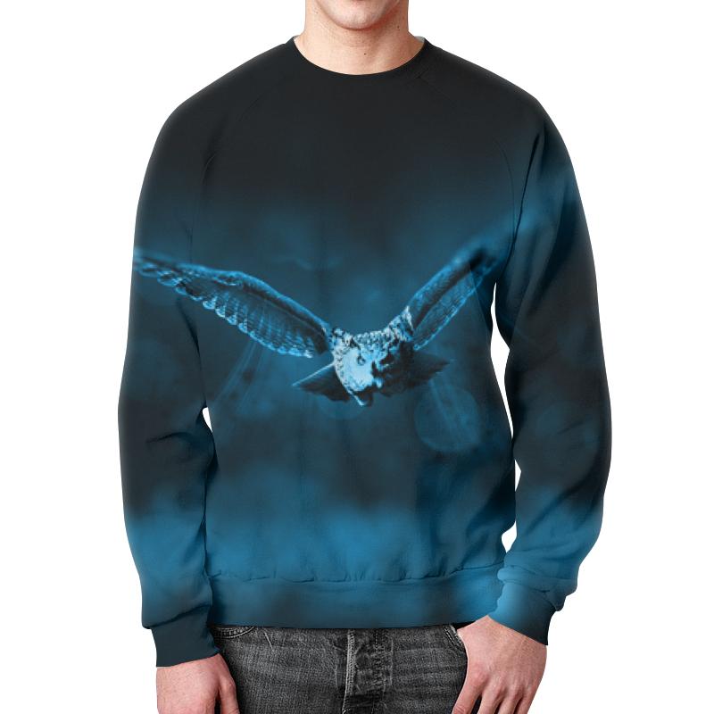 Свитшот мужской с полной запечаткой Printio Свитшот летящая сова