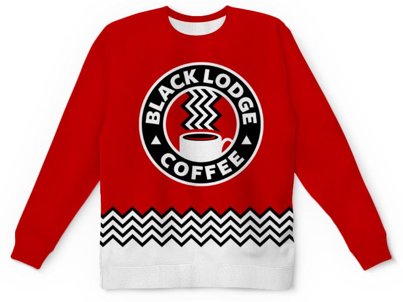 Свитшот унисекс с полной запечаткой Printio Твин пикс. black lodge coffee christmas at promise lodge