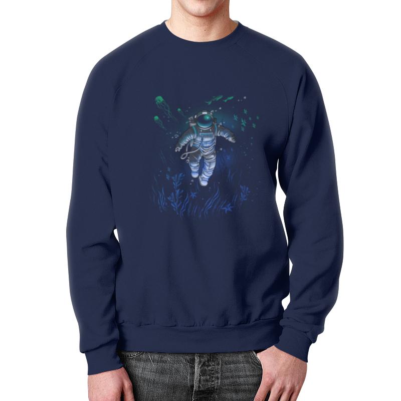 Свитшот мужской с полной запечаткой Printio Космическая глубина свитшот print bar мечты астронавта