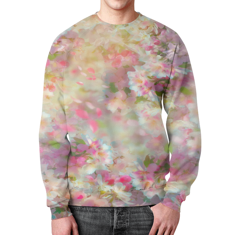 Свитшот мужской с полной запечаткой Printio Весенние цветки подушка 60х40 с полной запечаткой printio весенние цветки