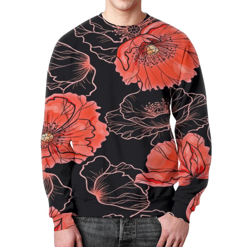 купить Свитшот унисекс с полной запечаткой Printio Цветы по цене 1785 рублей