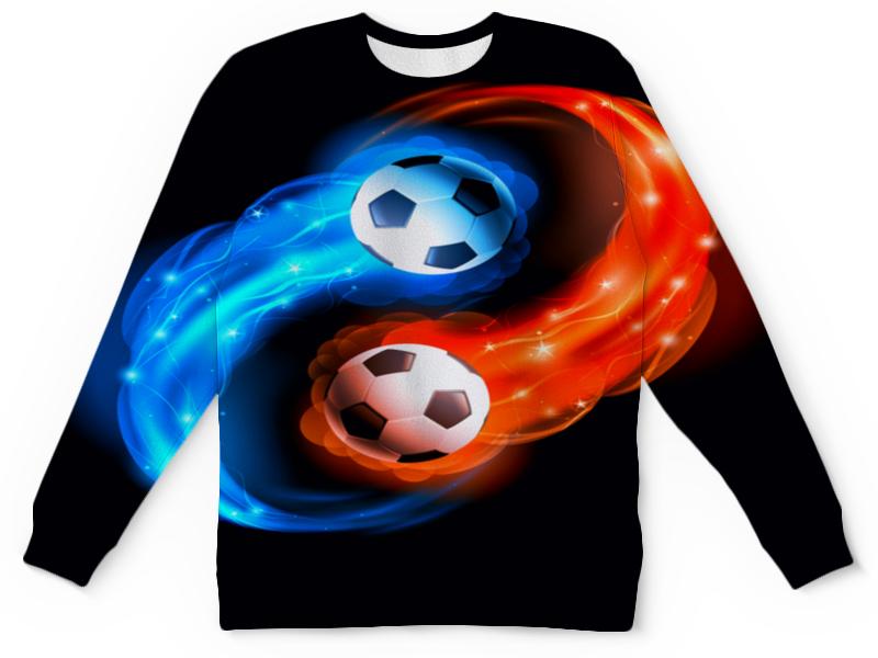 Свитшот унисекс с полной запечаткой Printio Футбольные мячи lion enpex взрослые футбольные поножи пластиковые футбольные щиты вставьте стильные ножки l no черный