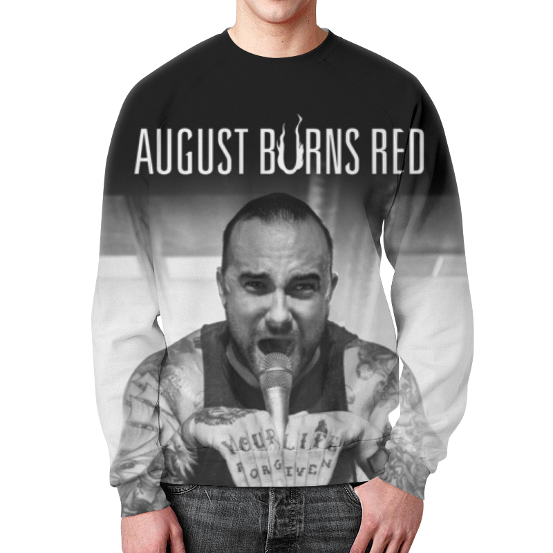 Свитшот мужской с полной запечаткой Printio August burns red сумка с полной запечаткой printio august burns red