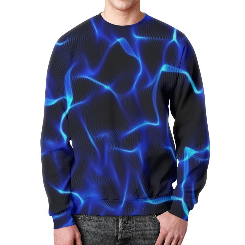 Printio Синие волны свитшот мужской с полной запечаткой printio синие линии