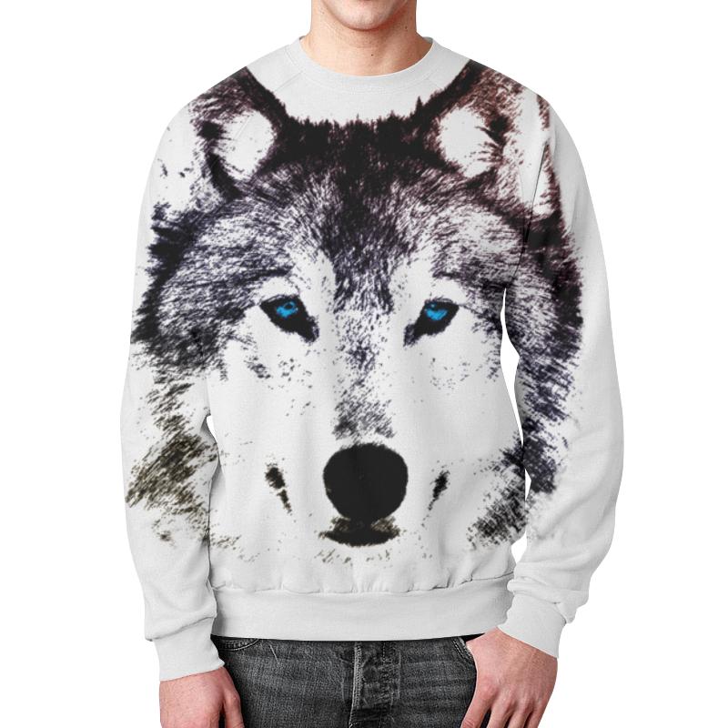 Свитшот мужской с полной запечаткой Printio Волк (графика) борцовка с полной запечаткой printio волк графика