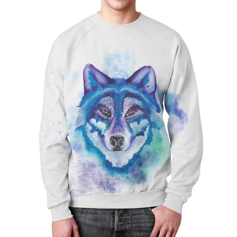 Свитшот мужской с полной запечаткой Printio Волк зимний