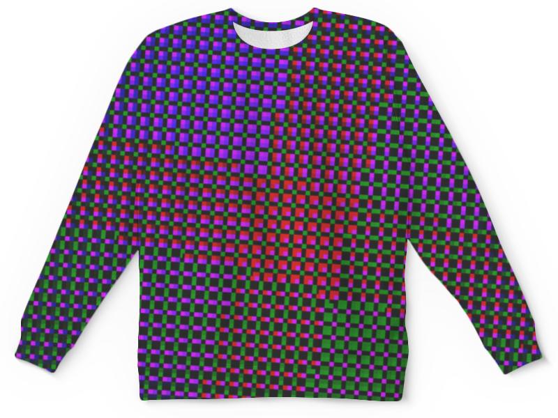Свитшот унисекс с полной запечаткой Printio Glitch art (индиго) glitch