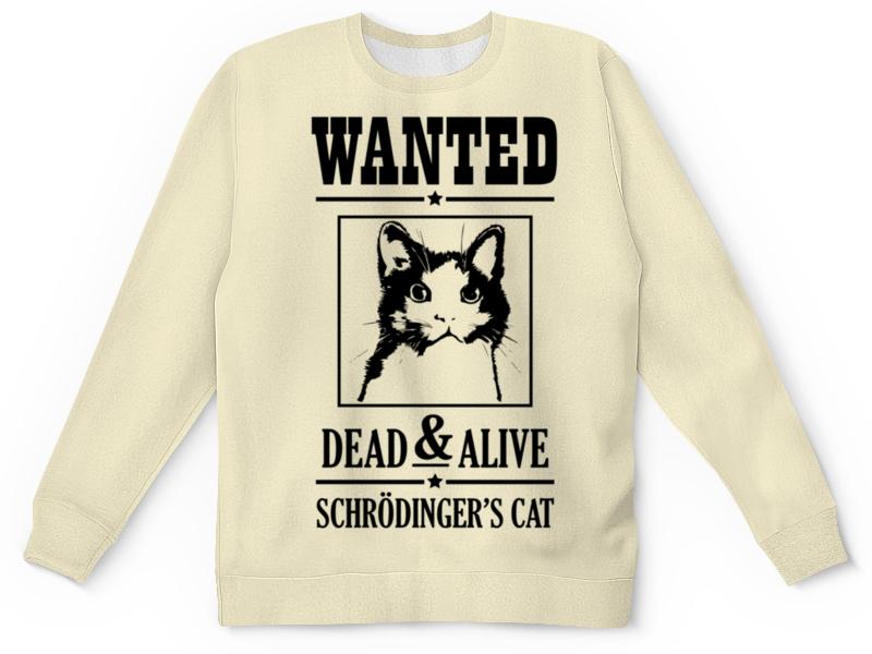 Свитшот унисекс с полной запечаткой Printio Кот шрёдингера кот шрёдингера