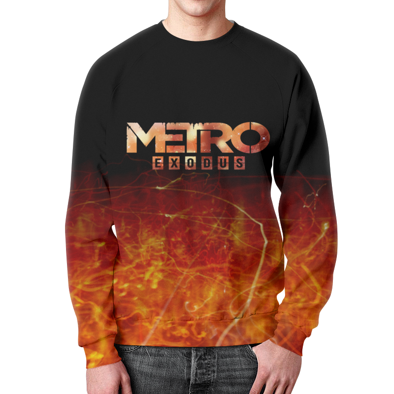 Свитшот мужской с полной запечаткой Printio Metro metro station metro station metro station