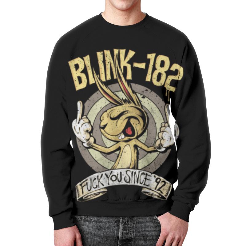 Свитшот мужской с полной запечаткой Printio Blink-182