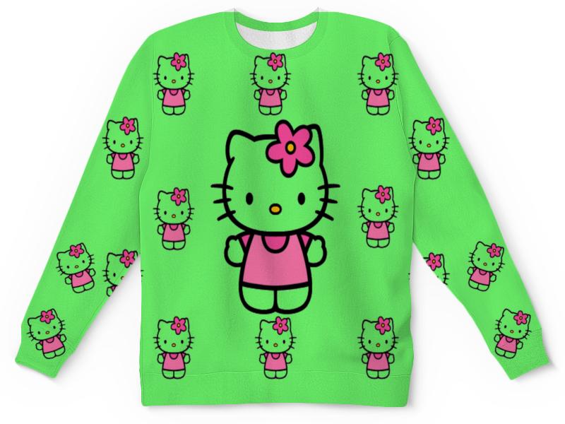 Свитшот унисекс с полной запечаткой Printio Кити.кошка девочка. цветочек .любимая. свитшот унисекс с полной запечаткой printio странная девочка