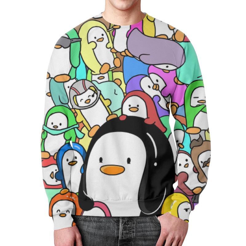 Свитшот мужской с полной запечаткой Printio Пингвины свитшот print bar пингвины анимация