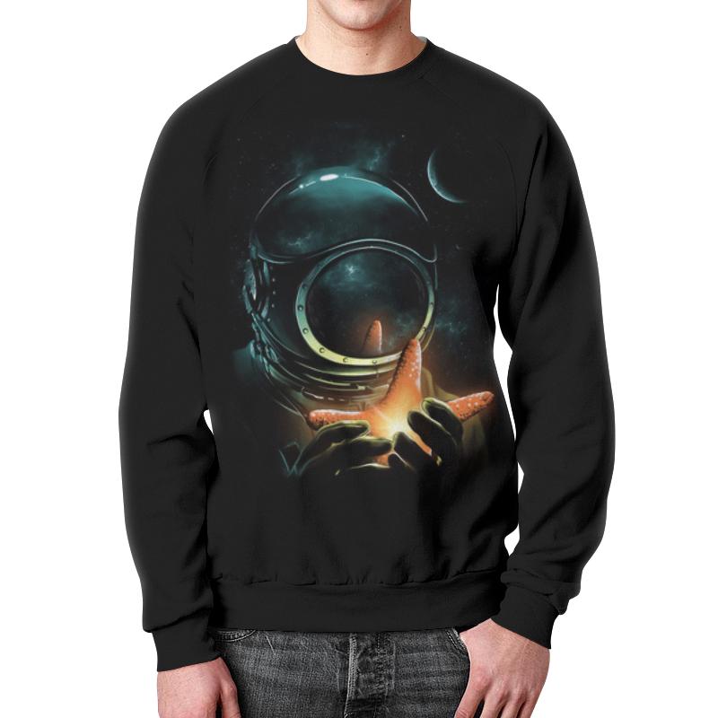 Свитшот мужской с полной запечаткой Printio Outer space (2) outer dark