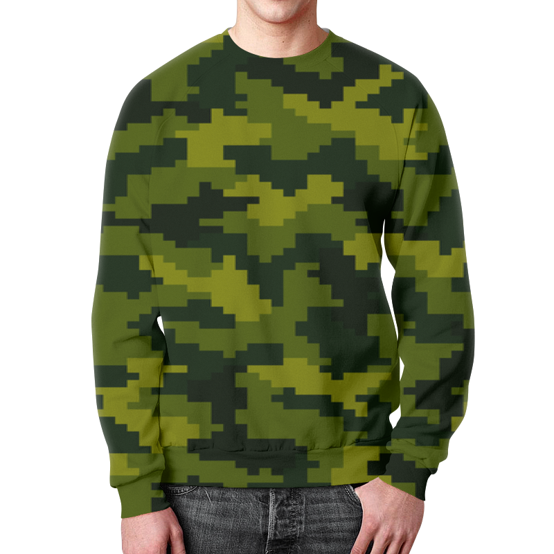 Свитшот мужской с полной запечаткой Printio Summer camouflage