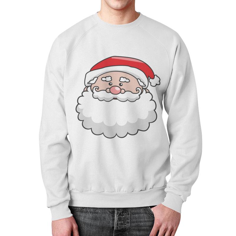 Свитшот унисекс с полной запечаткой Printio Голова санты костюм рождественской санты 40 44