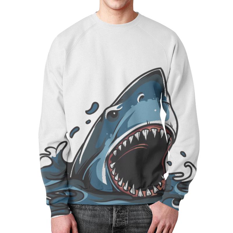 Printio Акула свитшот мужской с полной запечаткой printio акула