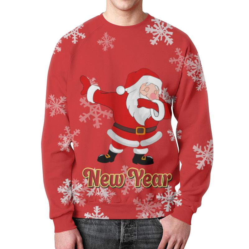 Свитшот мужской с полной запечаткой Printio Дед мороз украшение новогоднее оконное magic time дед мороз с самоваром двустороннее 30 х 32 см