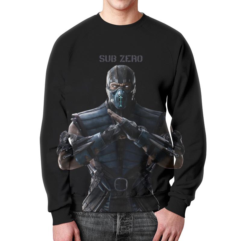 Свитшот мужской с полной запечаткой Printio Mortal kombat x (sub-zero) сумка с полной запечаткой printio mortal kombat x sub zero