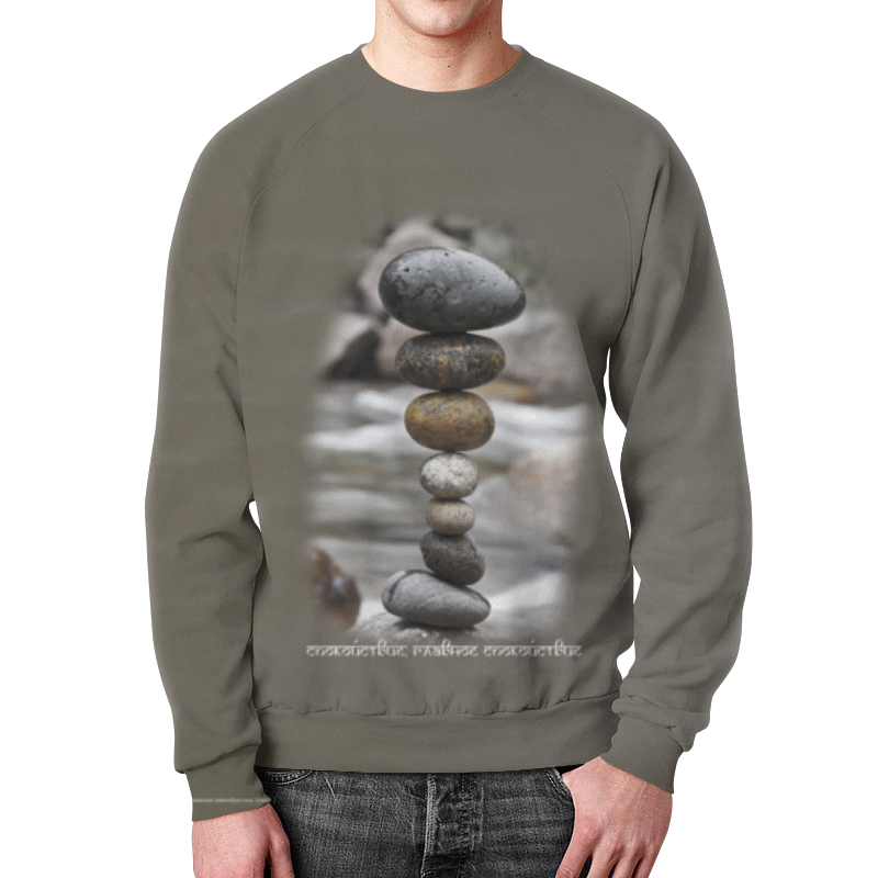Свитшот унисекс с полной запечаткой Printio Каменные пирамидки. спокойствие... #3