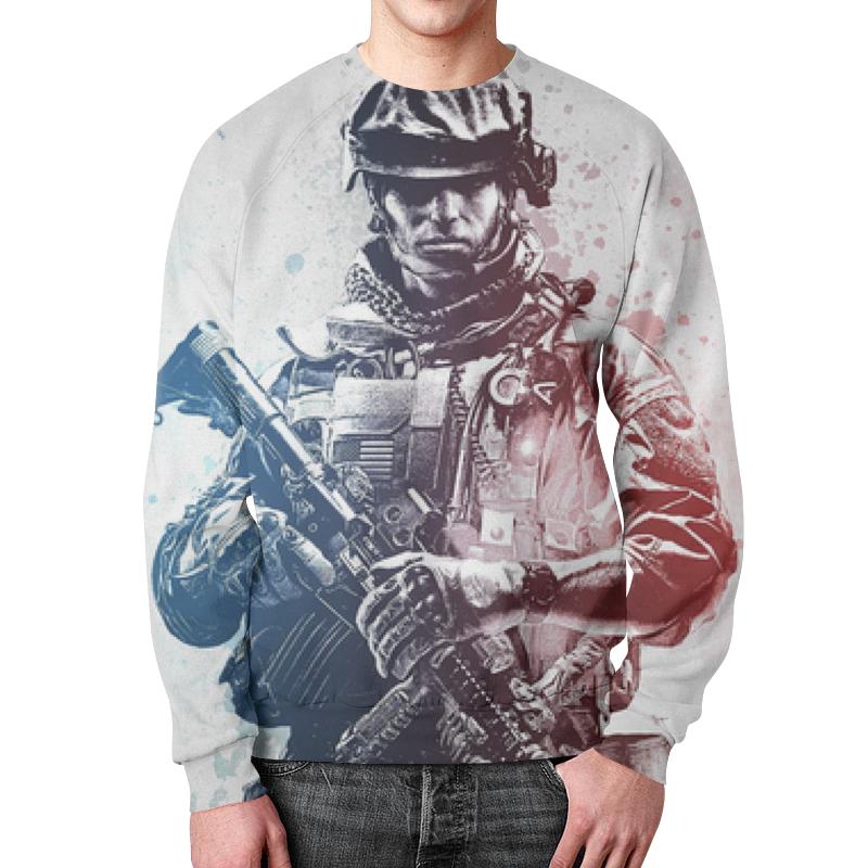 Свитшот унисекс с полной запечаткой Printio Солдат (battlefield) футболка с полной запечаткой мужская printio battlefield v