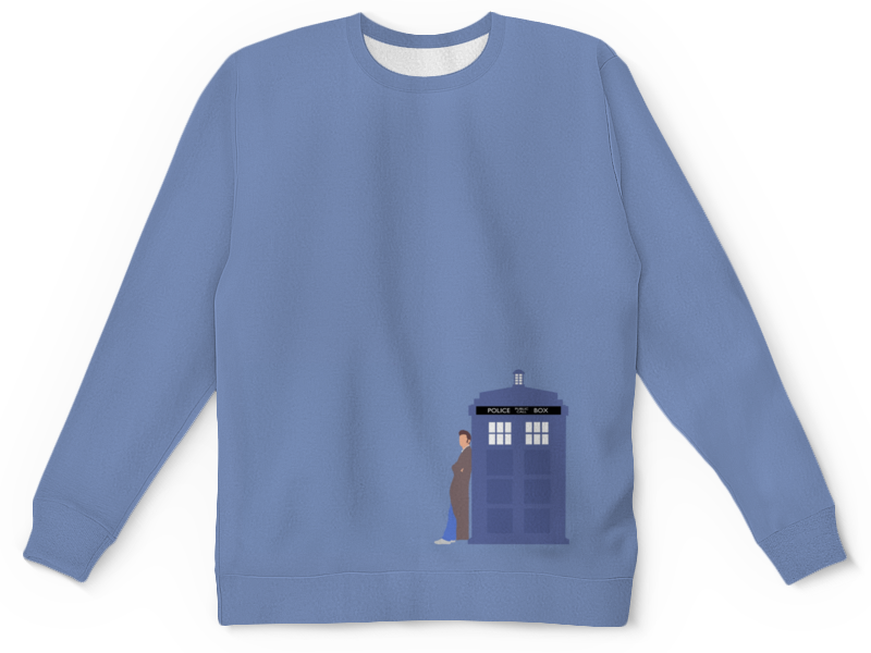 Свитшот унисекс с полной запечаткой Printio Доктор кто и тардис / doctor who & tardis футболка рингер printio доктор кто doctor who