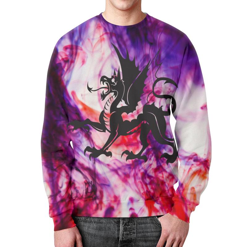 Свитшот мужской с полной запечаткой Printio Дракон цена
