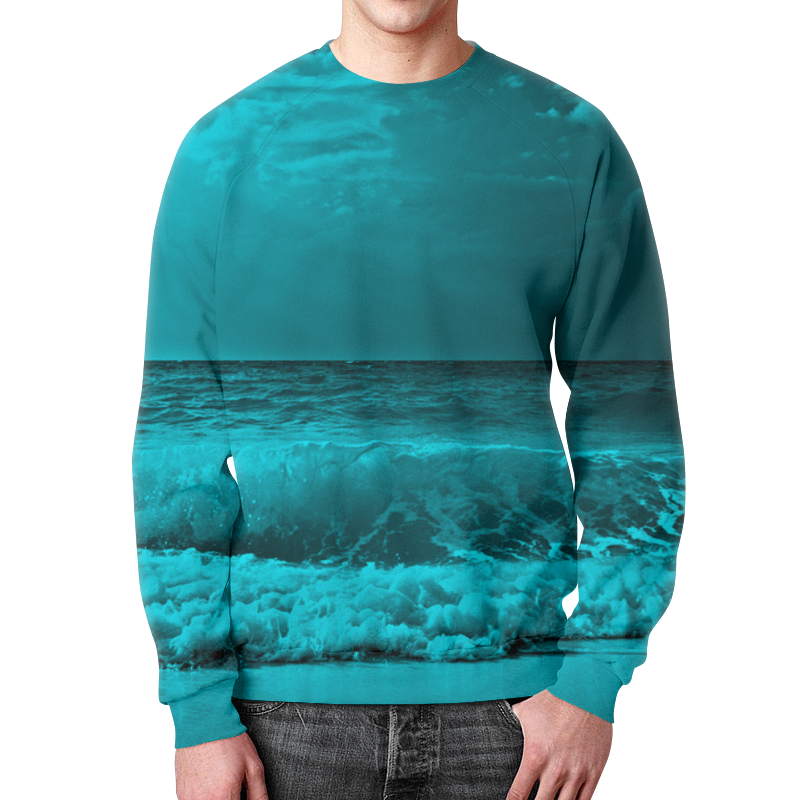 Свитшот мужской с полной запечаткой Printio Морские волны свитшот print bar морские мечты