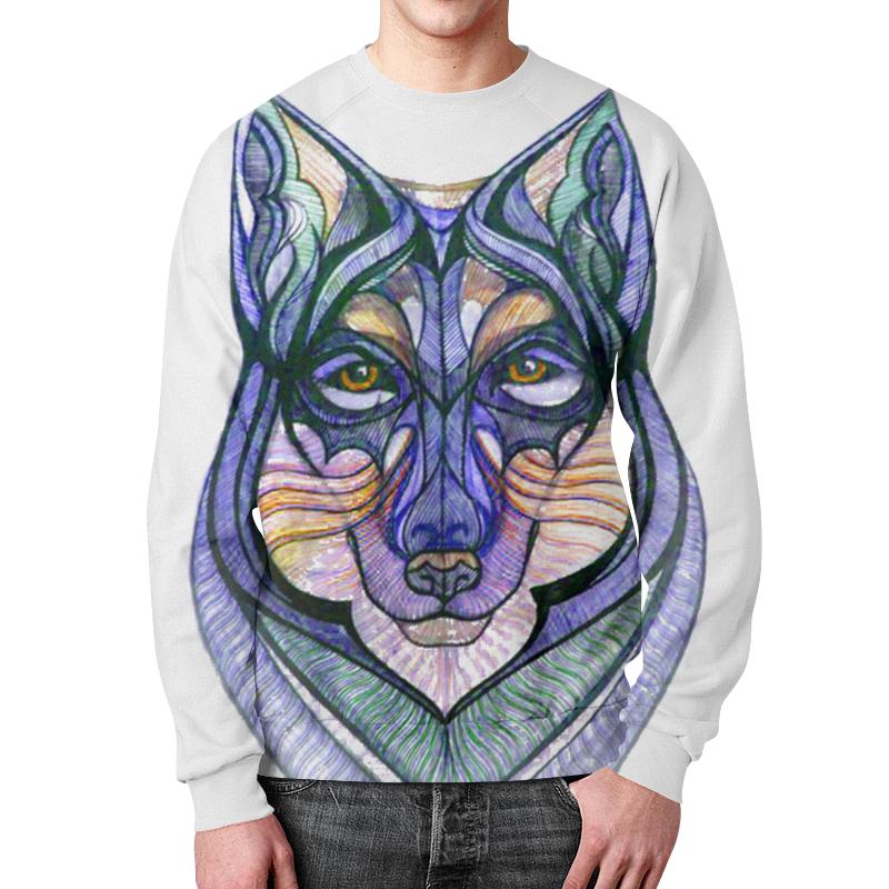 Свитшот мужской с полной запечаткой Printio Волк графика борцовка с полной запечаткой printio волк графика