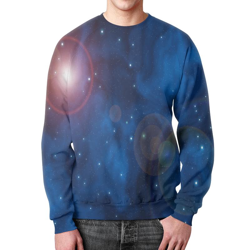 Свитшот унисекс с полной запечаткой Printio Вспышки в космосе