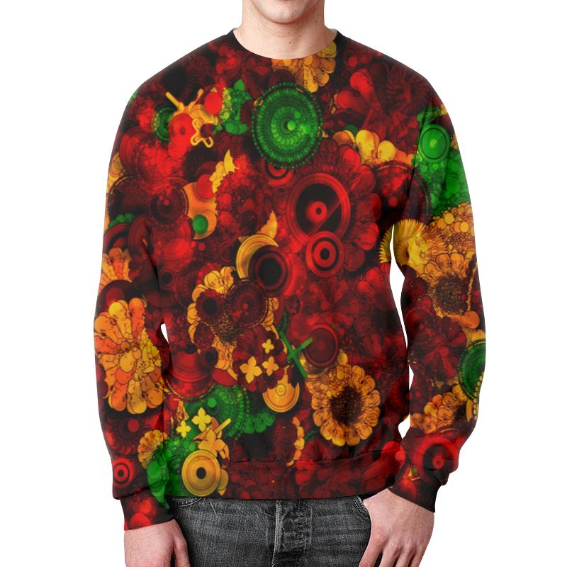 Свитшот унисекс с полной запечаткой Printio Цветочная поляна пеналы маша и медведь пенал цветочная поляна 22111