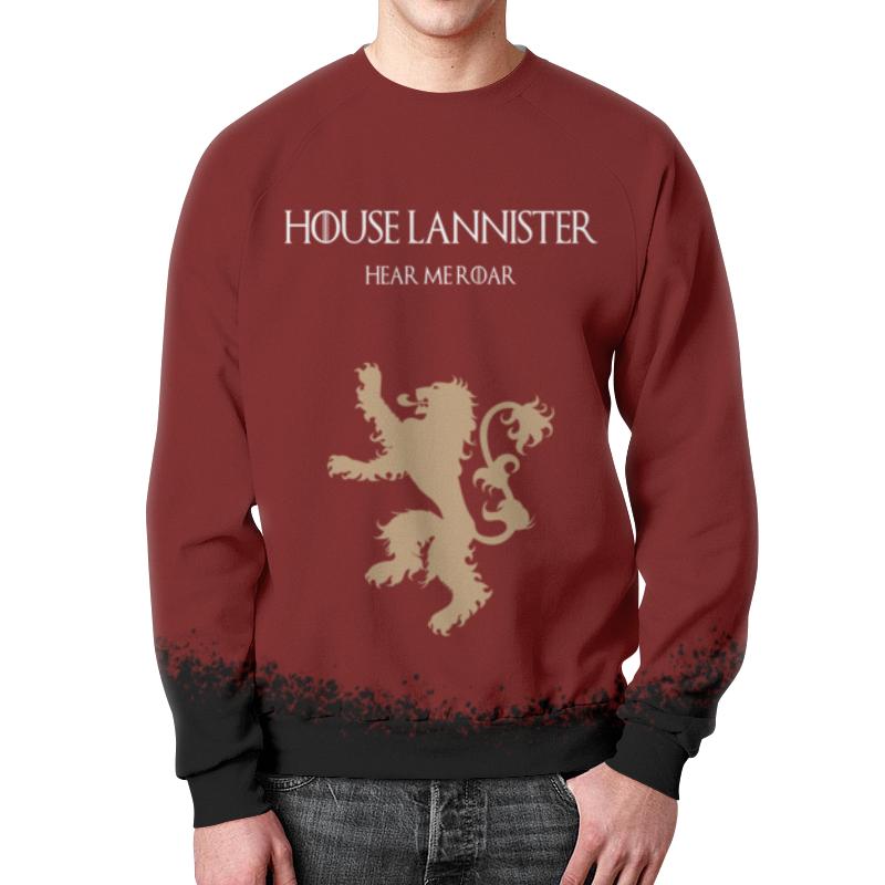 Свитшот мужской с полной запечаткой Printio House lannister свитшот print bar house md