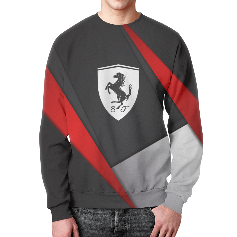 Фото - Свитшот мужской с полной запечаткой Printio Ferrari свитшот унисекс с полной запечаткой printio алфавит