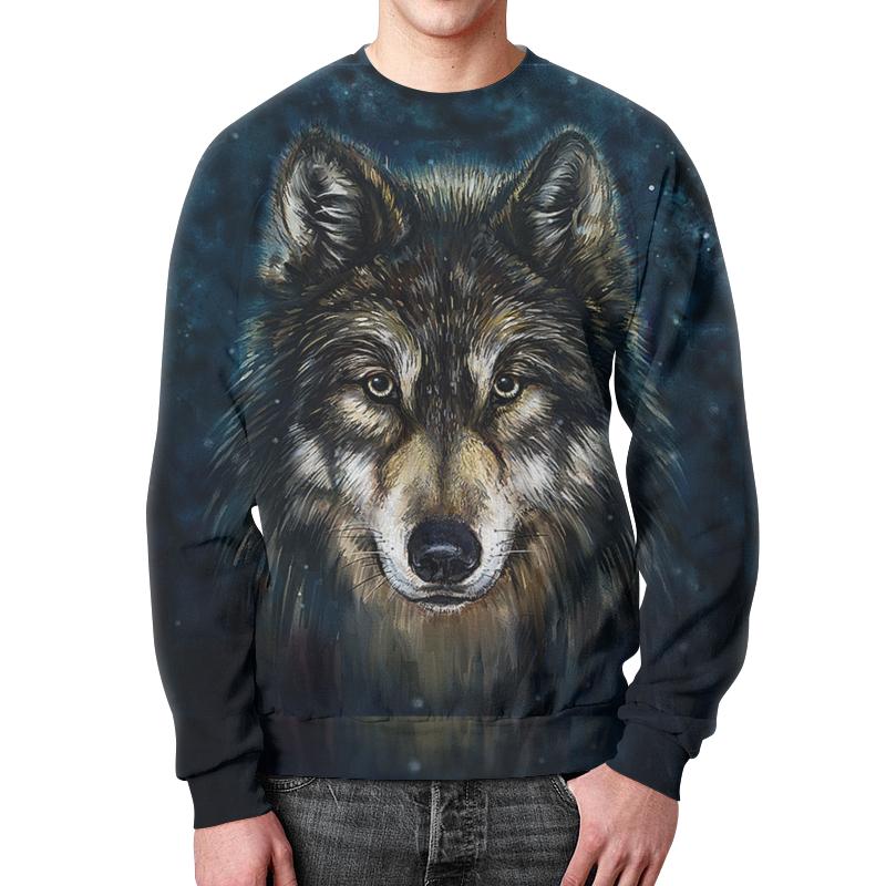 Свитшот мужской с полной запечаткой Printio Волки фэнтези. седой волк свитшот print bar серые волки