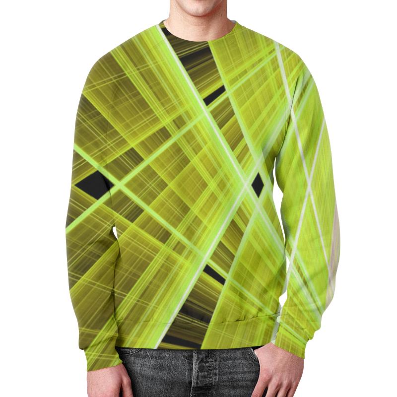 Свитшот мужской с полной запечаткой Printio Желтые линии цена