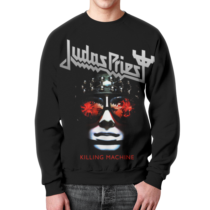 Свитшот мужской с полной запечаткой Printio Judas priest, музыка, рок, группы, метал, цена