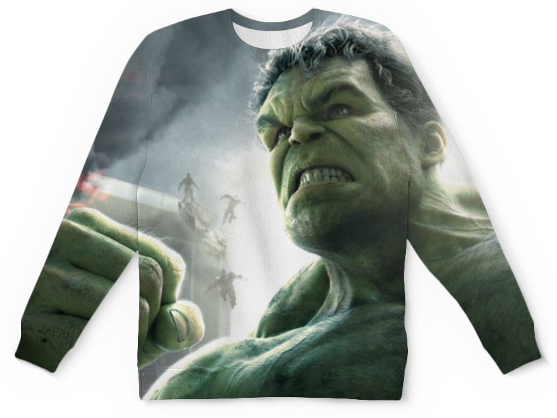 Свитшот унисекс с полной запечаткой Printio Халк (hulk) лонгслив printio халк hulk