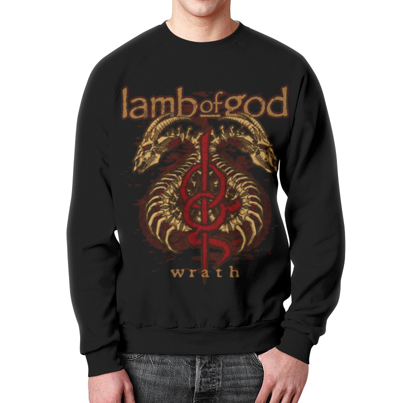 Свитшот мужской с полной запечаткой Printio Lamb of god god of vengeance
