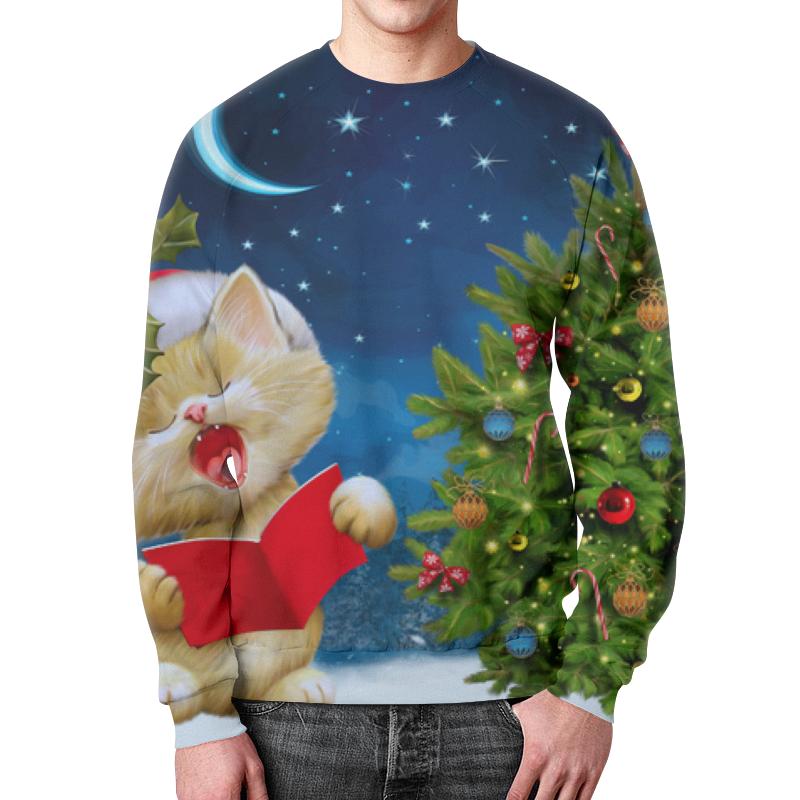 Фото - Свитшот мужской с полной запечаткой Printio Рождество свитшот унисекс с полной запечаткой printio алфавит